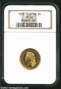 Proof Four Dollar Gold Pieces: , 1879 Flowing Hair, Judd-1635, Pollock-1832, 1833, R.3, 6, ...
