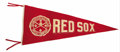 Baseball Collectibles:Others, Circa 1915 Boston Red Sox World Champions Large Pennant. Magnificently rare pennant has scarcely appeared in the hobby sinc...