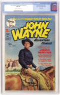 Golden Age (1938-1955):Western, John Wayne Adventure Comics #1 Mile High pedigree (Toby Publishing,1949) CGC VF 8.0 Cream to off-white pages....
