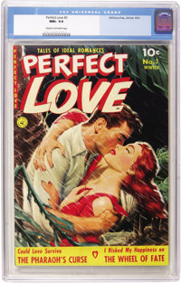 Perfect Love #3 (Ziff-Davis, 1951) CGC NM+ 9.6 Cream to off-white pages. This book has that slick look that's so charact...
