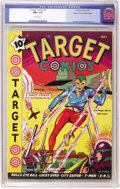 Golden Age (1938-1955):Superhero, Target Comics #4 Mile High pedigree (Novelty Press, 1940) CGC NM+ 9.6 White pages. This issue boasts a veritable Who's Who o...