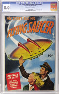 Golden Age (1938-1955):Science Fiction, Vic Torry & His Flying Saucer #nn (Fawcett, 1950) CGC VF 8.0Cream to off-white pages....