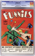 Golden Age (1938-1955):Science Fiction, The Funnies #35 File Copy (Dell, 1939) CGC VF+ 8.5 Cream tooff-white pages....
