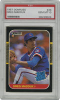 Baseball Cards:Singles (1970-Now), 1987 Donruss Greg Maddux #36 PSA Gem Mint 10. Tough gem mint rookiefrom the '87 Donruss set due to the black borders that ...