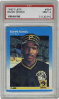 Baseball Cards:Singles (1970-Now), 1987 Fleer Barry Bonds #604 PSA Mint 9. Rookie card from themodern-day home run king. Nice PSA Mint 9....