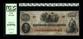 Confederate Notes:1862 Issues, T41 $100 1862. The stamps on back are perfectly applied, includingthe issuance stamp from Jackson, MS with a date of Januar...