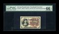 Fractional Currency:Fourth Issue, Fr. 1257 10c Fourth Issue PMG Gem Uncirculated 66 EPQ. Four boardwalk margins and perfect centering combine to make this not...