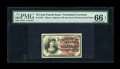 Fractional Currency:Fourth Issue, Fr. 1257 10c Fourth Issue PMG Gem Uncirculated 66 EPQ. While this is certainly a common type it becomes much more challengin...