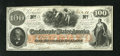 Confederate Notes:1862 Issues, T41 $100 1862. This Scroll 2 note is embossed. Extremely Fine-AboutUncirculated....