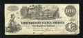 Confederate Notes:1862 Issues, T39 $100 1862. The right margin has plate name of BAEL. Fine+....