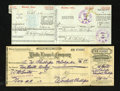 Miscellaneous:Other, 10¢ Money Order Collection. Collector Arthur Phillips set about to build a collection of money orders in the first decade of... (Total: 7 items)