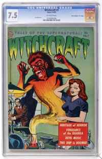 "Witchcraft #1 Davis Crippen (""D"" Copy) pedigree (Avon, 1952) CGC VF- 7.5 Off-white pages. This pre-Code issue..."