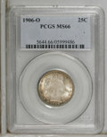 Barber Quarters: , 1906-O 25C MS66 PCGS. Fresh, original luster is the hallmark ofthis wonderfully preserved piece. Nicely struck with golden...