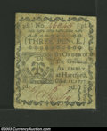Colonial Notes:Connecticut, October 11, 1777, 3d, Connecticut, CT-215, XF-AU. This is an ...