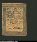 Colonial Notes:Pennsylvania, October 1, 1773, 10s, Pennsylvania, PA-167, VF-XF. This is a ...
