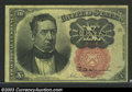 Fractional Currency:Fifth Issue, Fifth Issue 10c, Fr-1266, AU. Short key variety. There is a ...