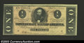 Confederate Notes:1864 Issues, 1864 $1 Clement C. Clay, T-71, Choice About Uncirculated. Some ...