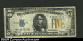 Small Size:World War II Emergency Notes, 1934-A $5 North Africa Silver Certificate, Fr-2307, VF. This ...