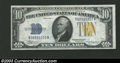 Small Size:World War II Emergency Notes, 1934-A $10 North Africa Silver Certificate, Fr-2309, Choice CU....