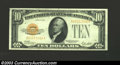 Small Size:Gold Certificates, 1928 $10 Gold Certificate, Fr-2400, Choice-Gem CU. Broadly ...