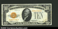 Small Size:Gold Certificates, 1928 $10 Gold Certificate, Fr-2400, XF. This is a crisp and ...