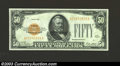 Small Size:Gold Certificates, 1928 $50 Gold Certificate, Fr-2404, Choice Crisp Uncirculated. ...