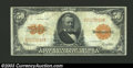 Large Size:Gold Certificates, 1922 $50 Gold Certificate, Fr-1200, Choice Fine. This higher ...