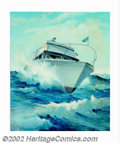 Original Illustration Art:Mainstream Illustration, Robert H. Coen - Original Advertising Painting (1950-1960). Anaccomplished and desirable boating advertisement, most likely...