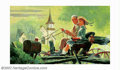 Original Illustration Art:Mainstream Illustration, American Illustrator - Original Illustration (probably 1945-1950).This painting, originally attributed to Douglass Crockwel...