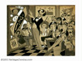 Original Illustration Art:Mainstream Illustration, Charles Hughes - Original Illustration (c.1930). Depicting an artshow and a gaggle of critics, this lighthearted art deco i...