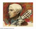 Original Illustration Art:Mainstream Illustration, Ron Lesser - Attributed - Original Illustration (1965-1970).Original illustration depicting Carl Sandburg, which may have b...