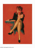 Original Illustration Art:Pin-up and Glamour Art, Earl Steffa Moran (1893-1984) Original Pin-up Painting (c.1940). Anextremely famous image from one of the foremost and resp... (Total:5 items Item)