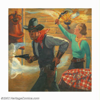 Sidney H. Riesenberg (1885-1971) Original Pulp Painting (1925-1930). Throughout his career, Sidney Riesenberg painted il...