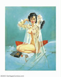 Original Illustration Art:Pin-up and Glamour Art, Mauro Scali - Original Pin-up Painting (1961). Mauro Scali hadnumerous pin-up and glamour images published by Esquire. ...(Total: 2 items Item)