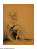 Original Illustration Art:Mainstream Illustration, Charles Gates Sheldon (1889-1960) Original Illustration(1920-1925). An exquisite art deco image of the famous ballerinaHil... (Total: 16 items Item)
