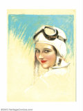 Original Illustration Art:Pin-up and Glamour Art, Charles Gates Sheldon (1889-1960) Original Magazine Cover Art(1925-1930). This beautiful portrait of a female aviator was p...(Total: 6 items Item)