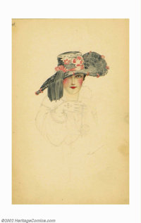 Alberto Vargas (1896-1983) Original Early Sketch (1916-1917). A rare, early, intricately detailed work from Alberto Varg...