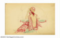 Original Illustration Art:Pin-up and Glamour Art, Alberto Vargas (1896-1983) Original Early Sketch (1916-1917). This lovely image is from Alberto Vargas' first sketchbook, wh... (Total: 2 items Item)