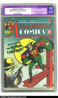 All-American Comics #16 (DC, 1940) CGC Apparent FN/VF 7.0 Moderate (P) Off-white pages. Green Lantern's origin and first...