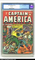 Golden Age (1938-1955):Superhero, Captain America Comics #6 (Timely, 1941) CGC VF- 7.5 Off-white pages. Where did the Nazis get these torturers, mad scientist...