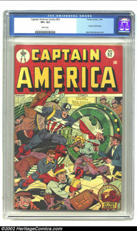Captain America Comics #52 (Timely, 1946) CGC VF+ 8.5 White pages. An exemplary exterior on this the third nicest copy C...