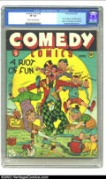Golden Age (1938-1955):Humor, Comedy Comics #9 (Timely, 1942) CGC VF 8.0 Cream to off-white pages. Is it just us, or does a title change from Daring Mys...