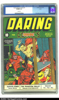 Golden Age (1938-1955):Superhero, Daring Mystery Comics #2 Larson pedigree (Timely, 1940) VF/NM 9.0 White pages. The Phantom Bullet makes the most of his only...