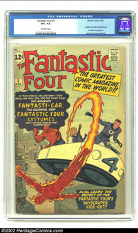 Fantastic Four #3 (Marvel, 1962) CGC VG+ 4.5 Off-white pages. This highly sought after third issue introduces the Fantas...
