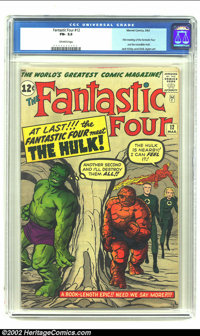 Fantastic Four #12 (Marvel, 1963) CGC FN- 5.5 Off-white pages. This issue features the stupendous first meeting and clas...