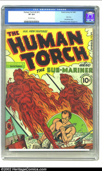 The Human Torch #2 (#1) (Timely, 1940) CGC VF 8.0 Off-white pages. Overstreet ranks this the 24th most valuable Golden A...