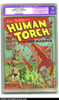 Golden Age (1938-1955):Superhero, The Human Torch #5 (#4) (Timely, 1941) CGC Apparent VF- 7.5 Slight (A) Cream to off-white pages. From the Schomburg Subby-ge...