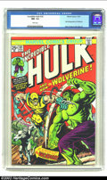 Bronze Age (1970-1979):Superhero, The Incredible Hulk #181 (Marvel, 1974) CGC NM- 9.2 White pages.Wolverine marks his full explosive debut on this Herb Trimp...