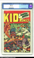 Golden Age (1938-1955):Superhero, Kid Komics #9 (Timely, 1945) CGC NM- 9.2 Off-white to white pages. Alex Schomburg utilizes all six of the Young Allies, five...