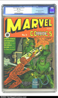 Marvel Mystery Comics #5 (Timely, 1940) CGC VF- 7.5 White pages. Alex Schomburg gives us the second Human Torch cover wi...